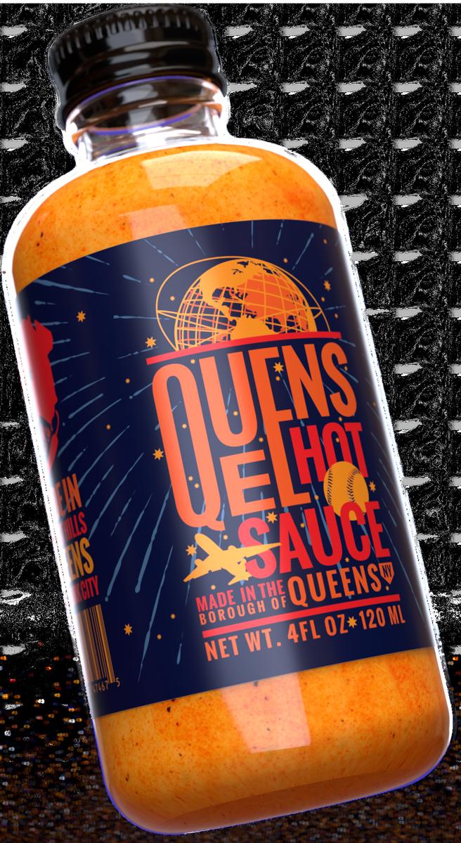 Bottle of Queens Hot Sauce